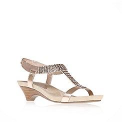 Anne Klein - Pink 'teale3' mid heel gladiator sandals