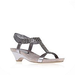 Anne Klein - Metal 'teale3' mid heel gladiator sandals