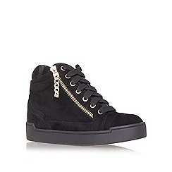 Carvela - Black 'Lap' flat high top trainers