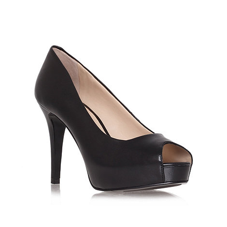 Nine West - Black + Camya + high heel peep toe