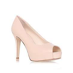 Nine West - Nude ' Camya ' high heel peep toe