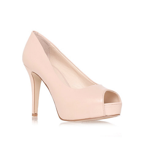 Nine West - Nude + Camya + high heel peep toe