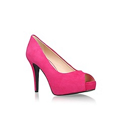 Nine West - Pink 'Camya' high heel peep toe court shoe