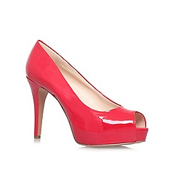 Nine West - Red 'CAMYA3' High heeled peep toe court shoe