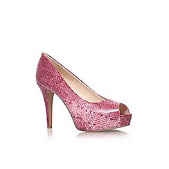 Nine West - Pink 'Camya3' high heel peep toe court shoe