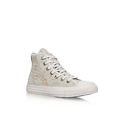 Converse - White 'Ct Sequins Hi' high top sneakers