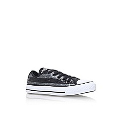 Converse - Black 'Ct sequins low' flat lace up sneaker