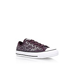 Converse - Purple 'Ct Sequins' low flat lace up sneakers