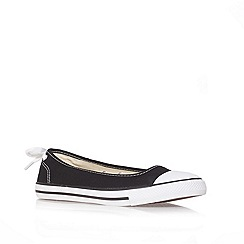 Converse - Converse black 'ct ballerina' flat low-top trainers