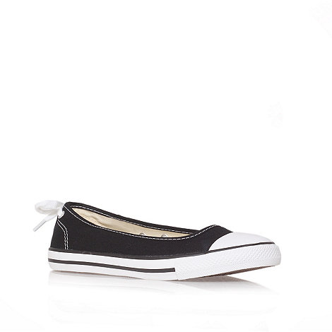 Converse - Converse black +ct ballerina+ flat low-top trainers