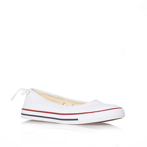 Converse - White +Ct ballerina+ flat low-top trainers