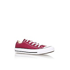 Converse - Red 'Ct low seas' flat lace up sneaker