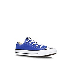 Converse - Blue 'CT low seas' flat low top trainers