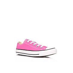 Converse - Pink 'CT low seas' flat lace up low top trainer