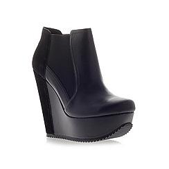 KG Kurt Geiger - Black 'Stanley' High Heel Wedge Boots