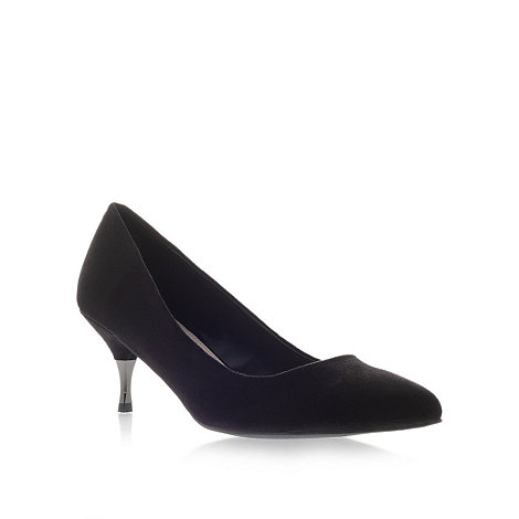 Miss KG - Miss KG Caitlyn black mid heel court shoes