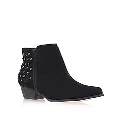 Miss KG - Black 'Bella' Low Heel Ankle Boots