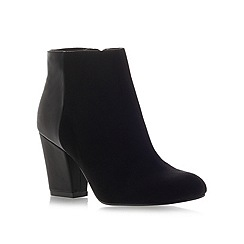 Miss KG - Bettie black mid heel suede ankle boots