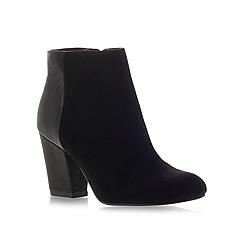 Miss KG - Bettie black mid heel suede ankle boots