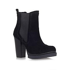 KG Kurt Geiger - Black 'Shannon' High Heel Chelsea Boots