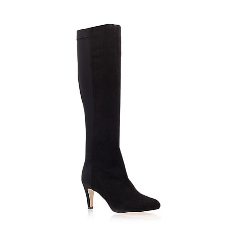 Miss KG - Black 'Bluebell' Low Heel Knee Boots