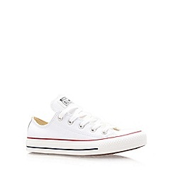 Converse - Converse white 'ct leather' low trainer