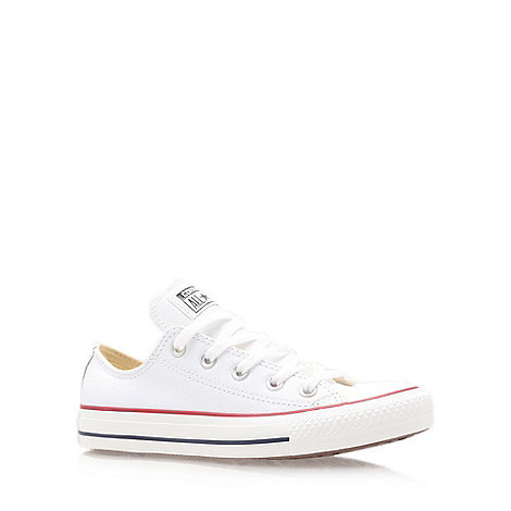 Converse - White +Ct leather+ low trainer