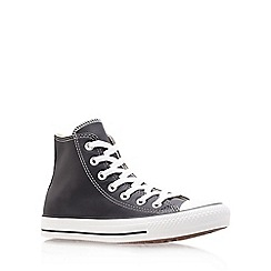 Converse - Black 'Ct leather' hi top trainer