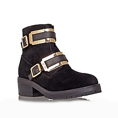 Carvela - Black 'Shard' low heel biker boots