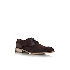 KG Kurt Geiger - Brown 'greengrass' flat leather lace-up shoes