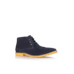 KG Kurt Geiger - Navy 'caino' flat suede desert boots