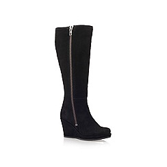 Carvela - Black 'wonderful' high heel wedge knee boots