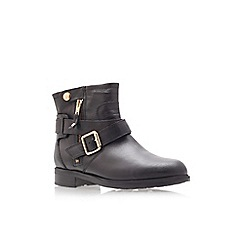 Carvela - Saturn black flat ankle boots