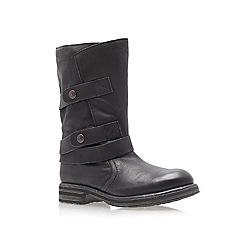 Carvela - Black 'Sassy' low heel calf boots