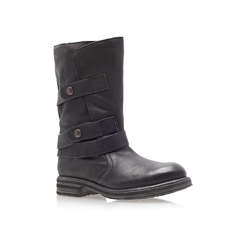 Carvela - Black +Sassy+ low heel calf boots