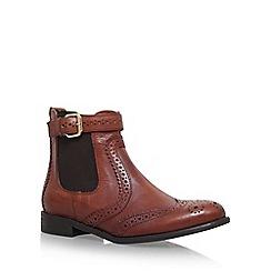 Carvela - Tan 'Slow' flat Chelsea boots