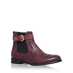 Carvela - Red 'Slow' flat chelsea boot