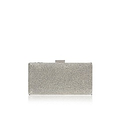 Miss KG - Silver 'Olivia' clutch bag