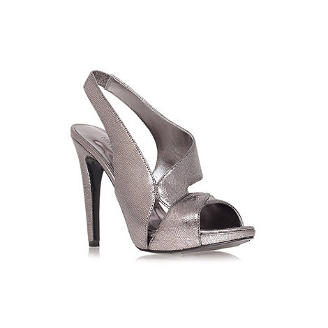 Nine West - Pewter 'Joansa' high heel slingback sandals