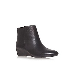 Nine West - Black 'Metalina' Flat Ankle Boots