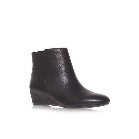 Nine West - Black +Metalina+ Flat Ankle Boots