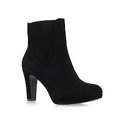 Nine West - Black 'Pook' Mid Heel Ankle Boots