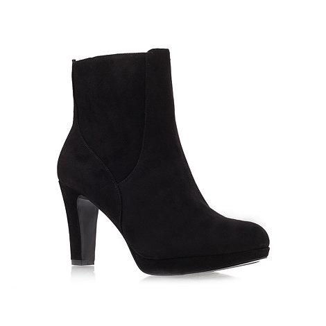 Nine West - Black +Pook+ Mid Heel Ankle Boots
