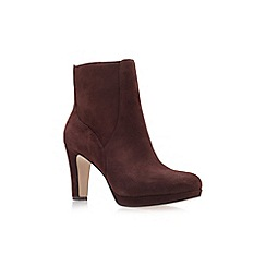 Nine West - Brown 'Pook' High Heel Ankle Boots