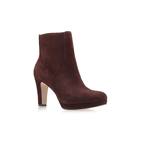 Nine West - Brown +Pook+ High Heel Ankle Boots