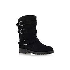 KG Kurt Geiger - Black 'Scandi' low heel calf high boots
