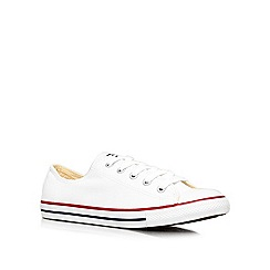 Converse - Converse white 'ct dainty' flat low-top trainers