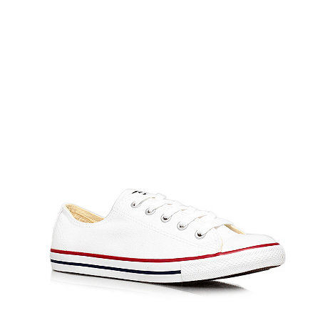 Converse - White +Ct dainty+ flat low-top trainers