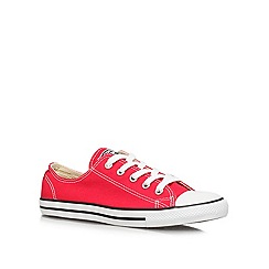 Converse - Converse red 'ct dainty' flat low-top trainers