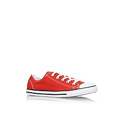 Converse - Orange 'Ct dainty low' flat lace up lo top trainer